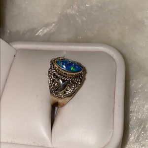 Jewelry - Sterling Silver Stamped 925 Opal Ring